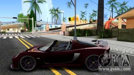 Lotus Exige Sport 350 Roadster Type 117 2014 for GTA San Andreas