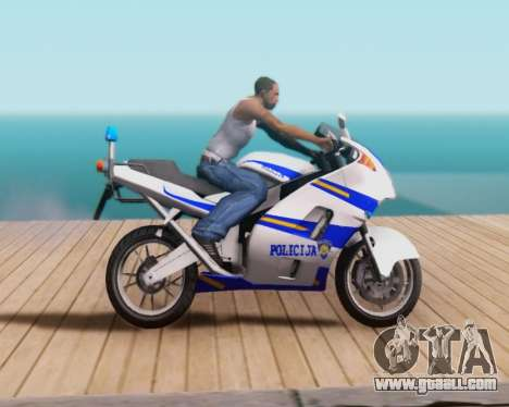 Croatian Police Bike for GTA San Andreas right view