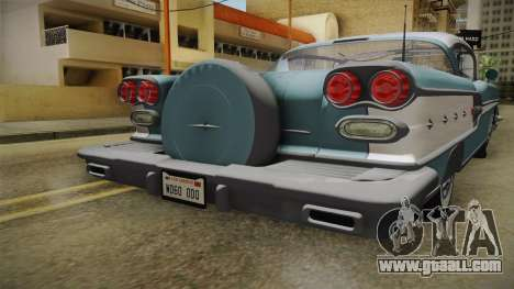 Pontiac Bonneville Hardtop 1958 IVF for GTA San Andreas side view