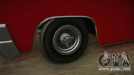 GTA 5 Declasse Voodoo 4-door for GTA San Andreas back view
