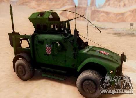 Oshkosh M-ATV Croatian Armoured Vehicle Texture for GTA San Andreas left view