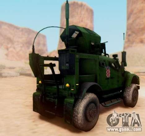Oshkosh M-ATV Croatian Armoured Vehicle Texture for GTA San Andreas back view