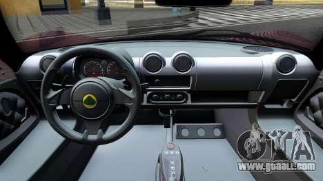 Lotus Exige Sport 350 Roadster Type 117 2014 for GTA San Andreas inner view