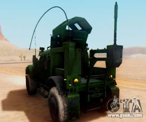 Oshkosh M-ATV Croatian Armoured Vehicle Texture for GTA San Andreas right view