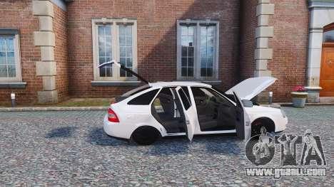 Lada Priora Hatchback for GTA 4 back view