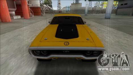 1972 Plymouth GTX for GTA San Andreas right view