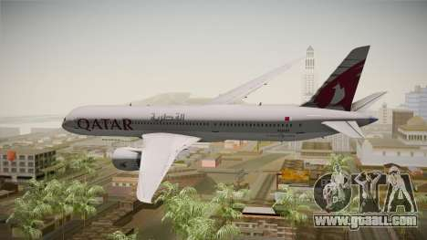 Boeing 787 Qatar Airways for GTA San Andreas right view