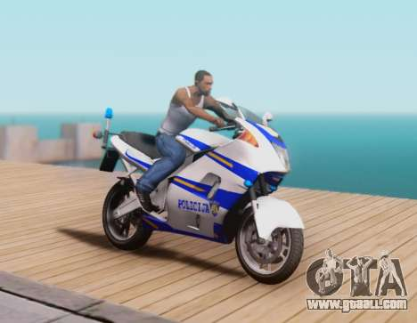 Croatian Police Bike for GTA San Andreas back left view