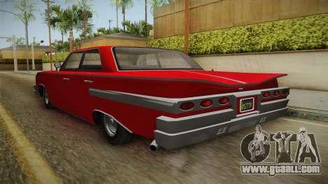 GTA 5 Declasse Voodoo 4-door for GTA San Andreas back left view