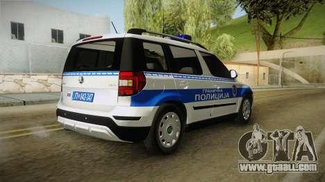Skoda Yeti Serbian Border Police for GTA San Andreas right view