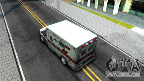 Resident Evil Ambulance for GTA San Andreas back view