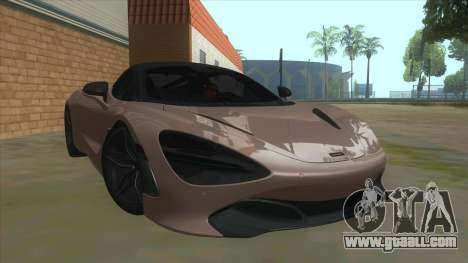McLaren 720S '17 for GTA San Andreas back view