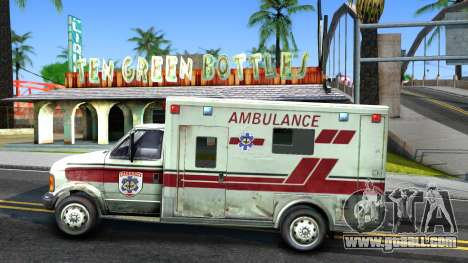 Resident Evil Ambulance for GTA San Andreas left view