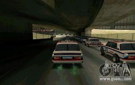 VAZ 2106 Kolomna for GTA San Andreas back left view