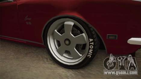 Chevrolet Camaro for GTA San Andreas back view