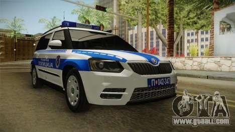 Skoda Yeti Serbian Border Police for GTA San Andreas