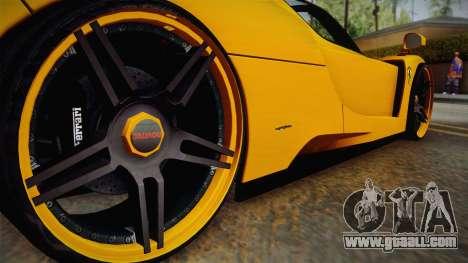 Ferrari Enzo Novitec Rosso for GTA San Andreas inner view