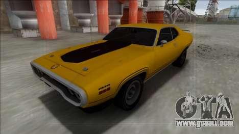 1972 Plymouth GTX for GTA San Andreas