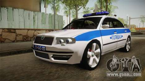 Skoda Superb Serbian Police v1 for GTA San Andreas right view