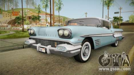 Pontiac Bonneville Hardtop 1958 IVF for GTA San Andreas