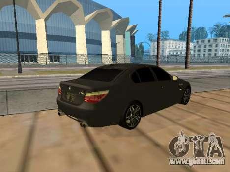 BMW M5 E60 Armenian for GTA San Andreas back view