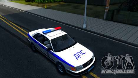 Audi 100 C4 Russian Police for GTA San Andreas right view