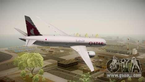 Boeing 787 Qatar Airways for GTA San Andreas left view