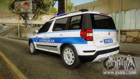 Skoda Yeti Serbian Border Police for GTA San Andreas left view