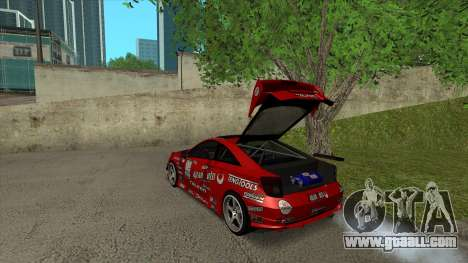 Toyota Celica Tunable for GTA San Andreas interior