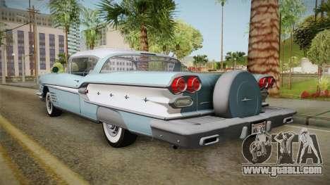 Pontiac Bonneville Hardtop 1958 IVF for GTA San Andreas left view