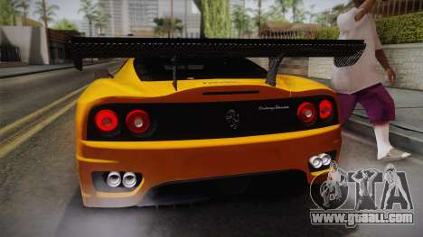 Ferrari 360 Challenge Stradale v3.1 for GTA San Andreas back view