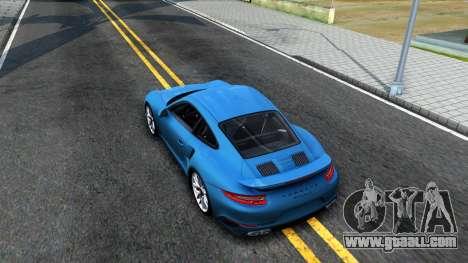 Porsche 911 Turbo S for GTA San Andreas back view