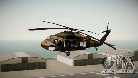 Atak 129 Heli for GTA San Andreas back left view
