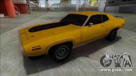 1972 Plymouth GTX for GTA San Andreas back left view