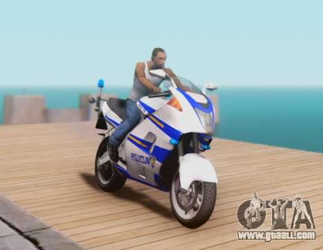 Croatian Police Bike for GTA San Andreas left view