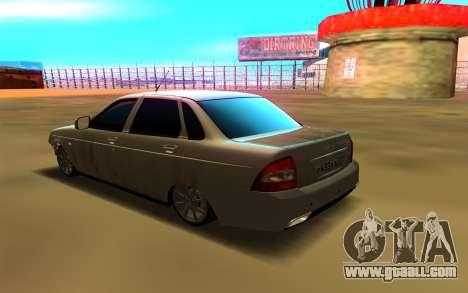 Лада Приора для GTA San Andreas - libertycityru