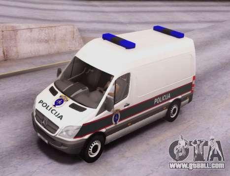 Mercedes-Benz Sprinter BIH Police Van for GTA San Andreas inner view