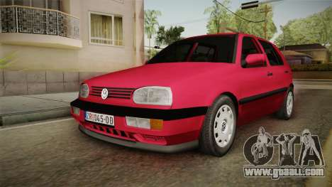 Volkswagen Golf Mk3 1997 for GTA San Andreas back left view