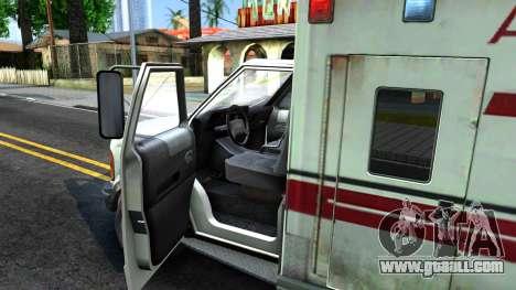 Resident Evil Ambulance for GTA San Andreas inner view