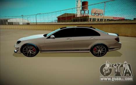 Mercedes-Benz C63 for GTA San Andreas left view