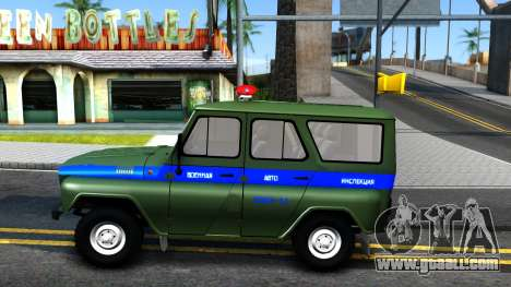 UAZ-31512 Military Auto Inspection for GTA San Andreas