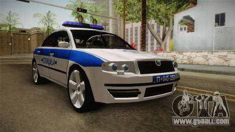 Skoda Superb Serbian Police v1 for GTA San Andreas