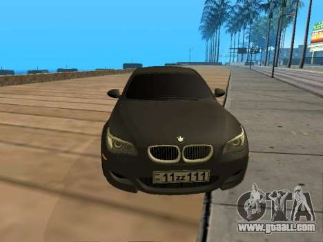 BMW M5 E60 Armenian for GTA San Andreas right view