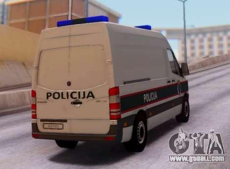 Mercedes-Benz Sprinter BIH Police Van for GTA San Andreas right view