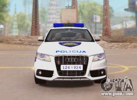 Audi S4 Croatian Police Car for GTA San Andreas inner view