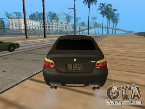 BMW M5 E60 Armenian for GTA San Andreas inner view