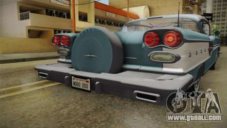 Pontiac Bonneville Hardtop 1958 IVF for GTA San Andreas upper view
