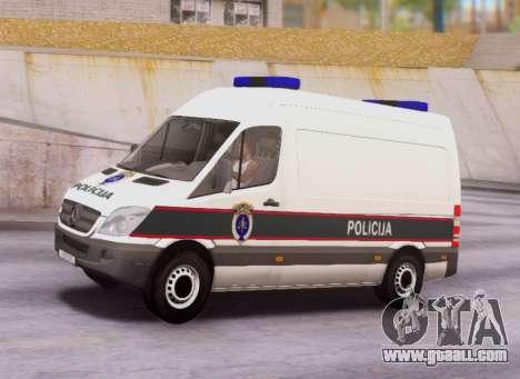 Mercedes-Benz Sprinter BIH Police Van for GTA San Andreas left view