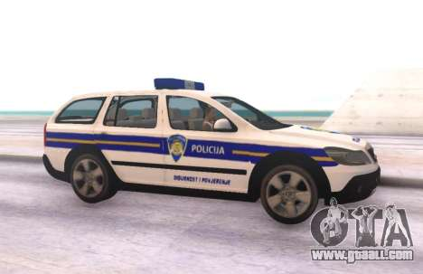 Skoda Octavia Scout Croatian Police Car for GTA San Andreas