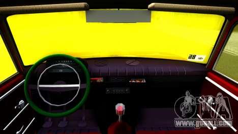 VAZ 2102 for GTA San Andreas inner view